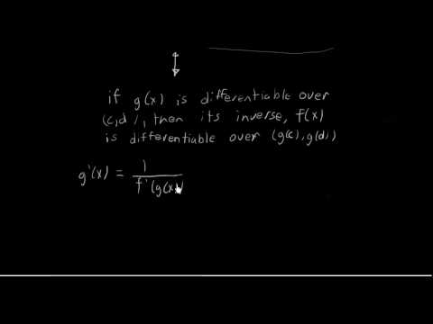 Derivatives of Inverse Trig Functions: d/dx(Arctan(x))