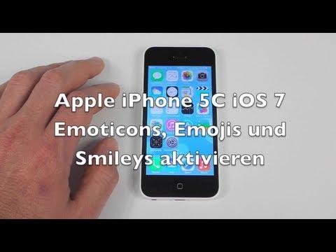 iPhone 5 5C 5S iOS 7 Anleitung: Emoticons und Emojis einschalten