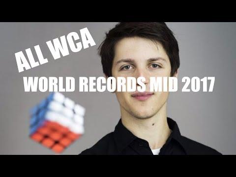 All WCA Rubik's Cube World Records Mid 2017 (Singles)