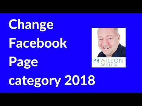 How to change category of Facebook page 2018
