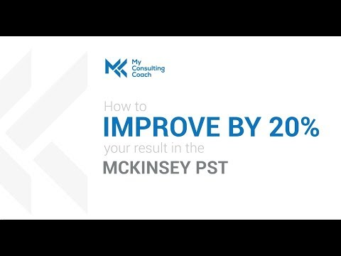Boost your score in the McKinsey Problem Solving Test (PST) by 20%