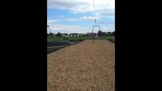 Abby on the flying fox