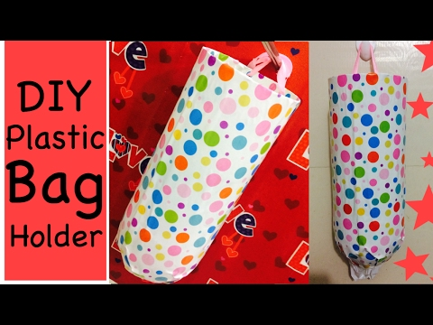 DIY Plastice/grocery bag Holder/Dispenser easy and organize you kitchen | Recycle Plastic bottle