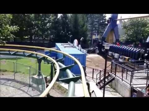 Canada's Wonderland: Dragon Fire on Ride Front Row POV / August 26, 2014 / 1080p