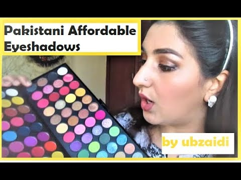 Pakistani Affordable Makeup - GlamorousFace Eye shadow Review and Comparison