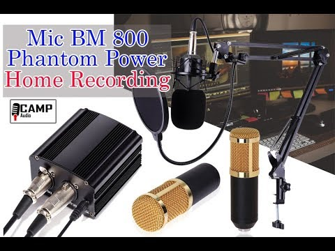Home Recording MURAH BANGET Mic BM 800 phantom power