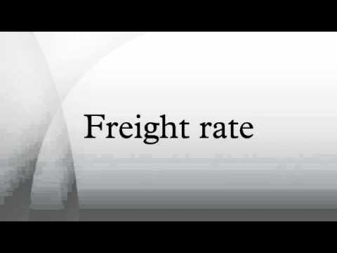 Freight rate