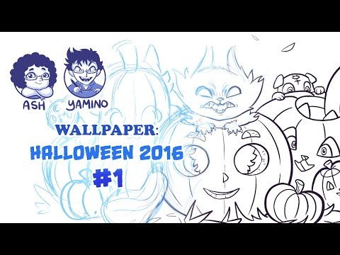 Wallpaper: Sketch and Ink Halloween 2016 #1