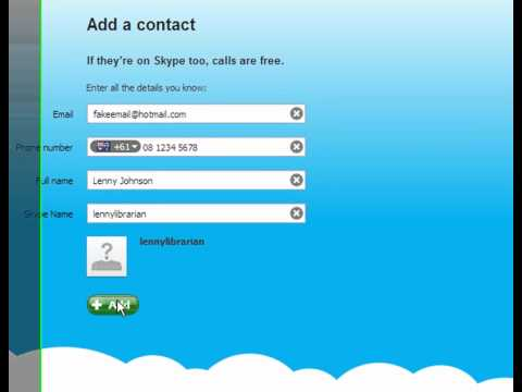 How to find & add Contacts on Skype
