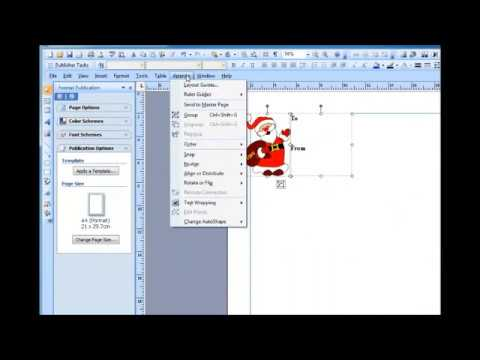 Making Christmas gift tags using microsoft publisher