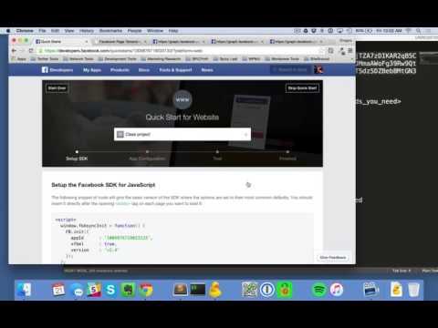 Facebook Access Token Part 1 - Creating and configuring app