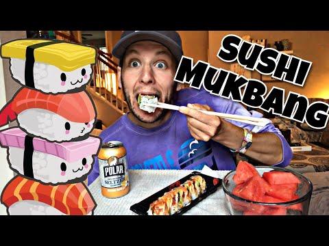 Sushi (& Watermelon) Mukbang - Shoutout To Donna's Journey!