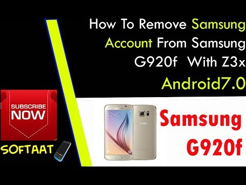 How To Remove Samsung Account From Samsung G920f  With Z3x  Android7.0  ✔️✔️