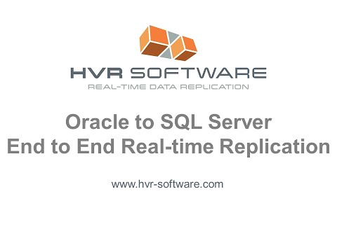 HVR Oracle to MS SQL server data replication