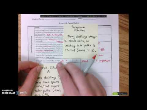 Research Paper Guidance 1- The Rubric