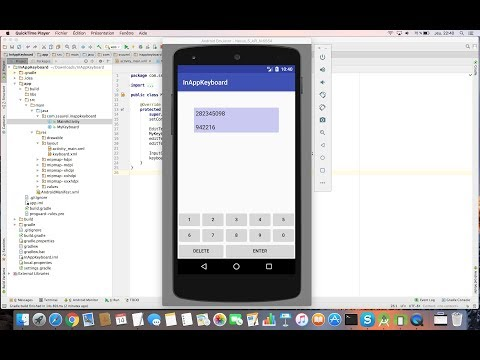 Learn to Create an In App Keyboard with Android Studio