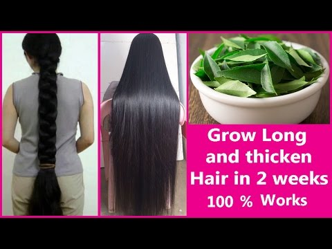 Grow Long and thicken Hair in 2 weeks    Fast Hair Growth Treatment at Home 100% Works