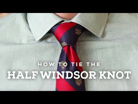 How To Tie a Perfect Half Windsor Knot