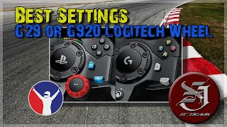 Best Force Feedback Settings G29 or G920 Logitech Wheel | iRacing