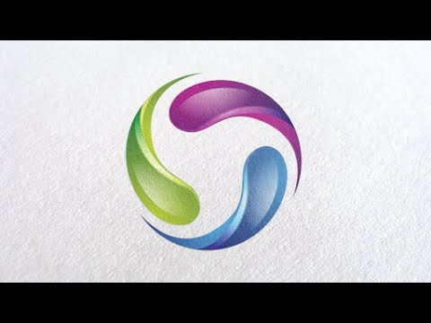 Adobe illustrator tutorial I how to create a 3d logo design with glass effect and gradient colorful