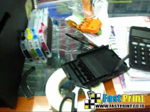 How to install the printer LC12 M-CISS Brother DCP J5910DW