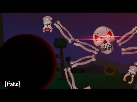 Stickman Vs Skeletron Prime - Terraria Animation [Troll]