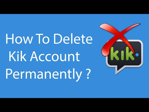 How To Delete/Deactivate Kik Account Permanently -2016 ?