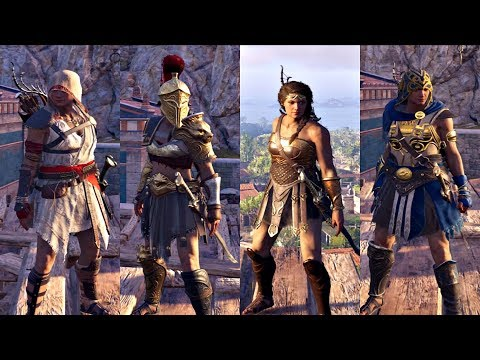 Assassin's Creed Odyssey - All Legendary Armor Sets Showcase