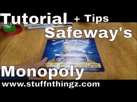 Tutorial - Playing Safeway's Monopoly Game + Tips