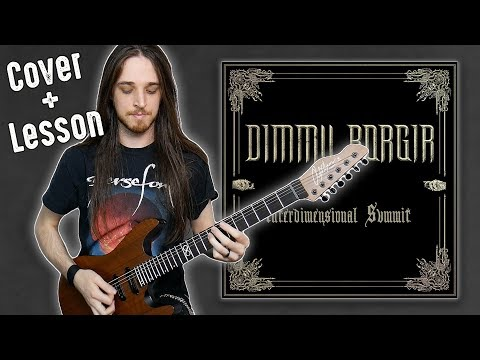 Dimmu Borgir - Interdimensional Summit Solo Cover + Lesson (Garrett Peters)