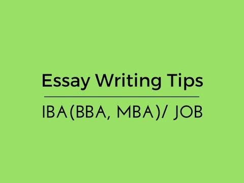 Writing Tips for IBA/JOB/BCS: Part-3