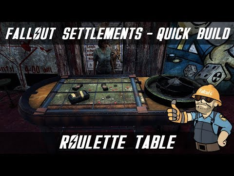 FALLOUT 4 SETTLEMENT - QUICK BUILD - HOW TO MAKE A ROULETTE TABLE