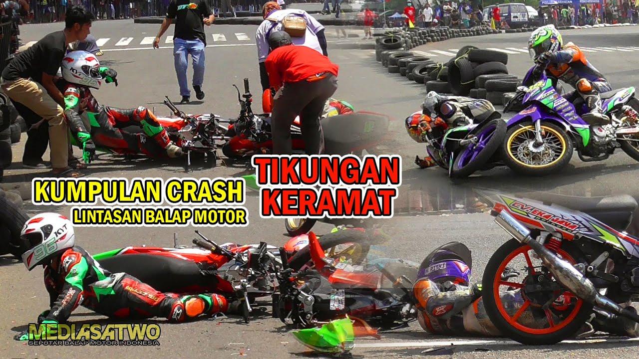 KUMPULAN CRASH DI TIKUNGAN KERAMAT ROAD RACE ALUN ALUN BANGKALAN