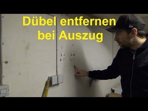 Dübel aus der Wand entfernen Dübel in der Wand lassen