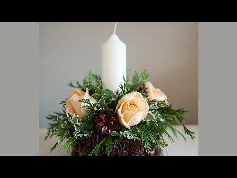 How To Christmas Candle Centerpieces