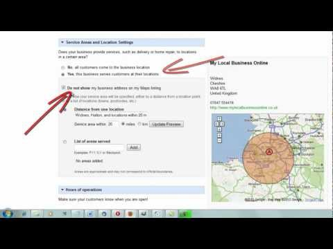 Google Places Tip - How to Remove Your Business Address on Google Places and Maps
