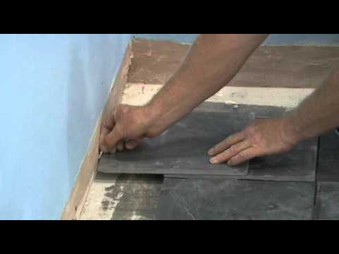 How to Tile a Floor Finish laying all full tiles