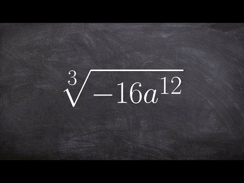 How to take the cube root of a negative algebraic expression