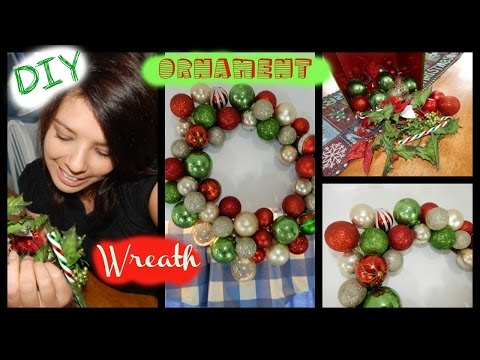 DIY | Christmas Upcycled Ornament Bubble Wreath - SAVE YOUR MONEY!