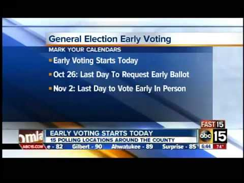 Early voting starts in Arizona for general election