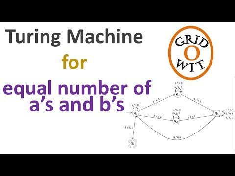 Turing Machine for equal number of a's and b's