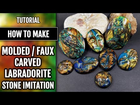 FREE | How to make - Molded / Faux Carved Labradorite Stone Imitation. Tutorial.