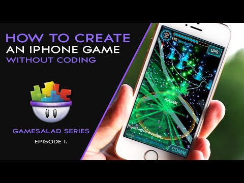 HOW TO MAKE AN IPHONE GAME WITHOUT CODING | GAMESALAD EP.1
