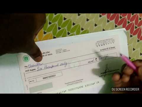 How to fill Bank Cheque