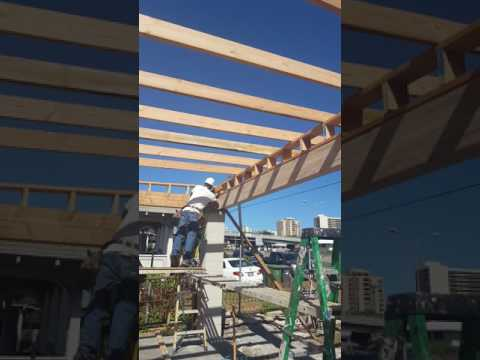 How To Start Framing A Flat Top Garage Roof Action Construction