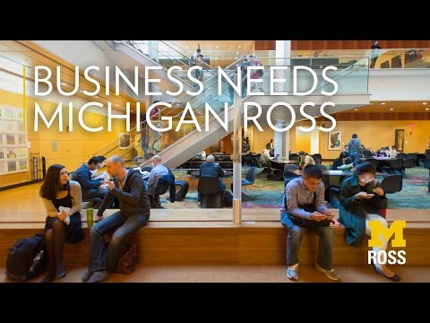Business Needs Michigan Ross | Become a Victor for Michigan