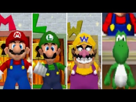 Super Mario 64 DS - All Characters (Gameplay showcase)