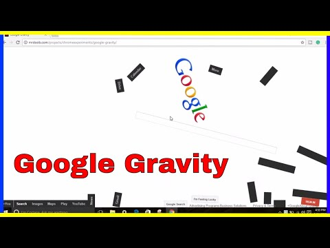 (Google-Gravity) Funny Trick Just For Fun Website