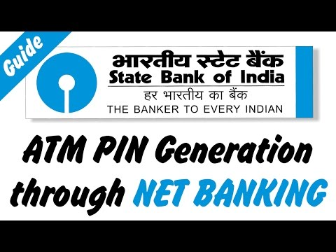 How to Generate ATM PIN Through Internet Banking [State Bank of india]