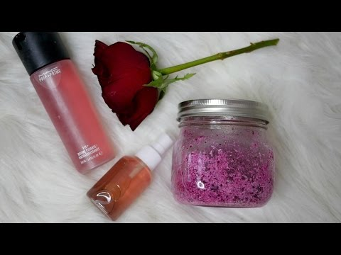 DIY ROSE FACE MIST & ROSE SUGAR SCRUB